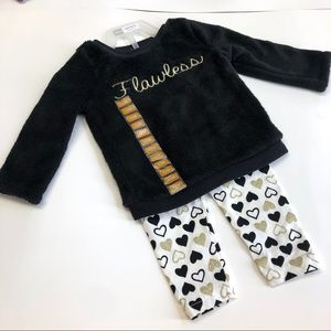 Baby Girl Carters Sweaters and Leggings Set 12M